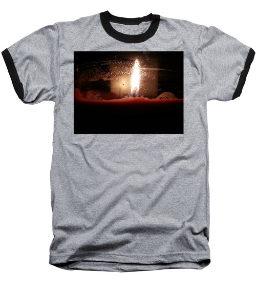 Baseball T-Shirt featuring the photograph Romantic Candle by Robert Knight