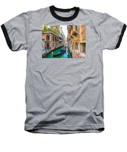 Romantic Gondola Scene On Canal In Venice Baseball T-Shirt