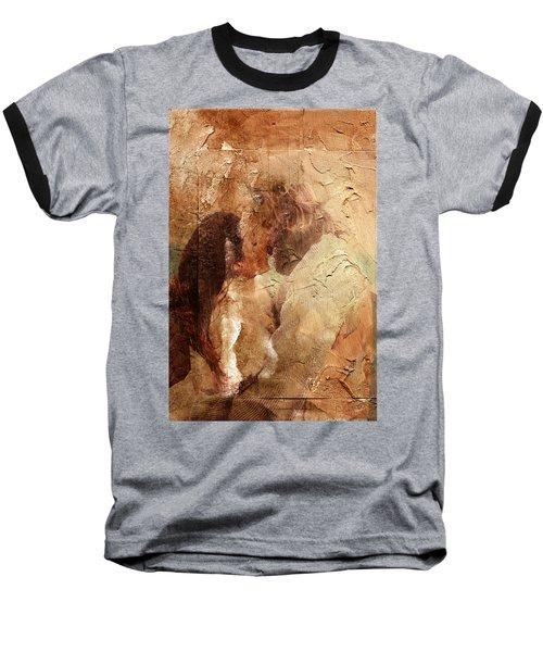 Baseball T-Shirt featuring the digital art Romantic Kiss by Andrea Barbieri