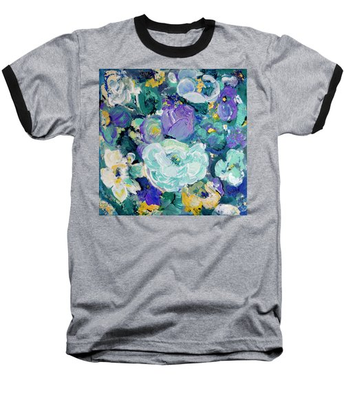Romantic Rose Garden Baseball T-Shirt