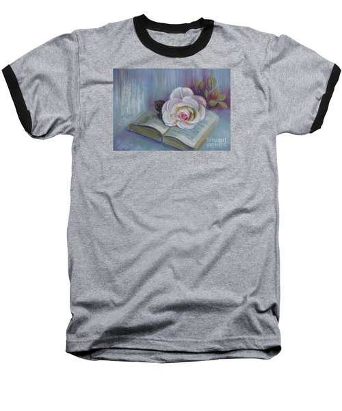 Baseball T-Shirt featuring the painting Romantic Story by Elena Oleniuc