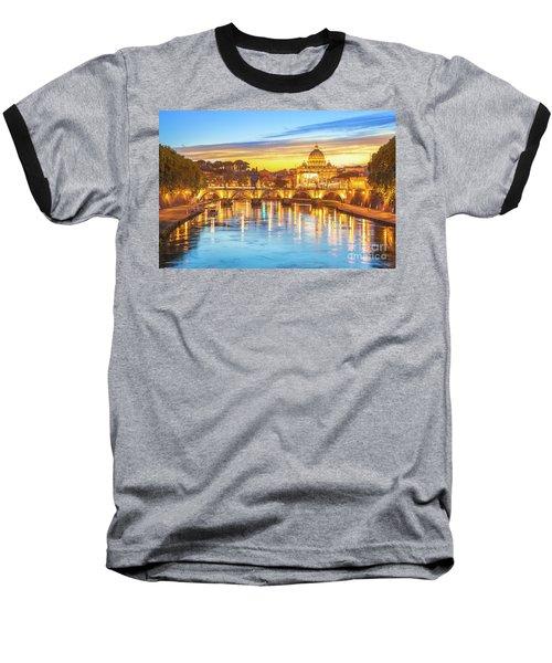 Rome At Twilight Baseball T-Shirt