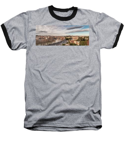 Baseball T-Shirt featuring the photograph Rome - Panorama  by Sergey Simanovsky