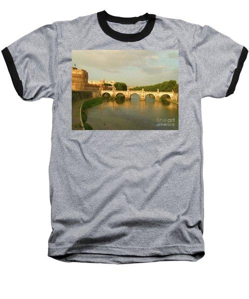Rome The Eternal City And Tiber River Baseball T-Shirt