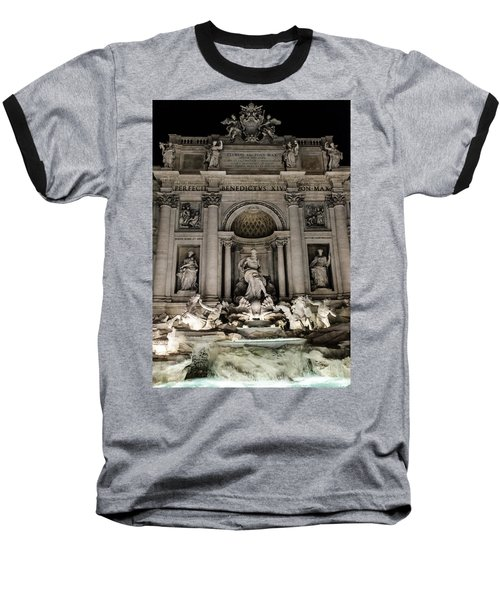 Rome - The Trevi Fountain At Night 3 Baseball T-Shirt