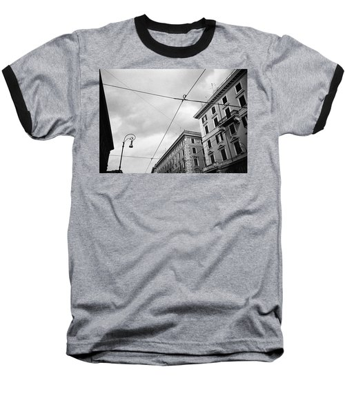 Rome's Downtown Cable Sky Baseball T-Shirt