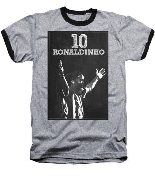 Ronaldinho Baseball T-Shirt by Semih Yurdabak