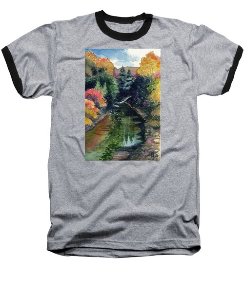 Baseball T-Shirt featuring the painting Ronceverte, Wv by Katherine Miller