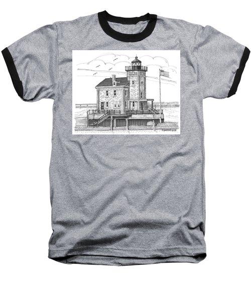 Rondout Lighthouse Baseball T-Shirt