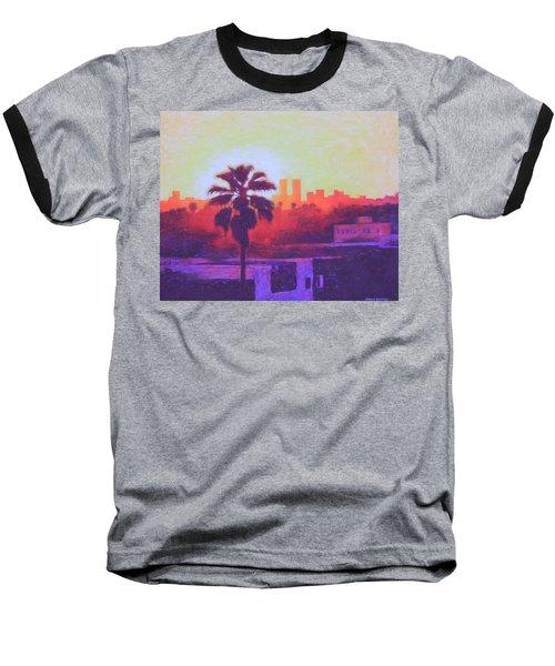 Rooftop Glow Baseball T-Shirt by Andrew Danielsen
