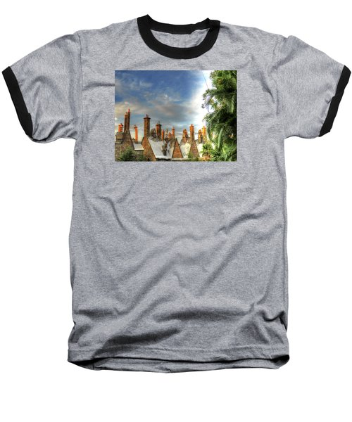 Baseball T-Shirt featuring the photograph rooftops Hogsmeade by Tom Prendergast