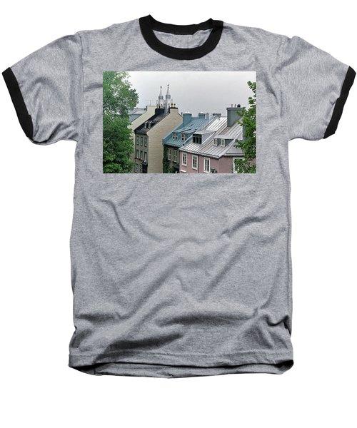 Baseball T-Shirt featuring the photograph Rooftops by John Schneider