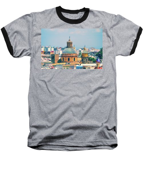 Baseball T-Shirt featuring the photograph Rooftops Of Seville - 1 by Mary Machare