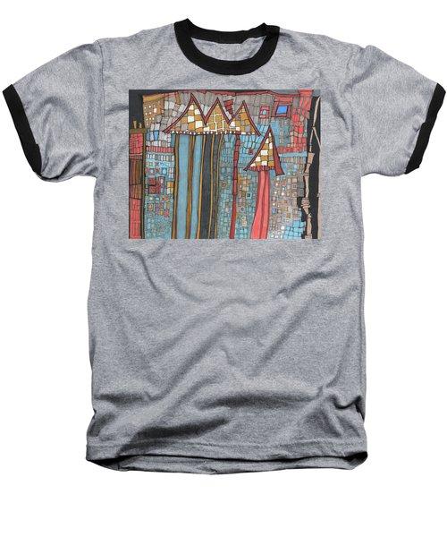 Dilapidated World Baseball T-Shirt by Sandra Church