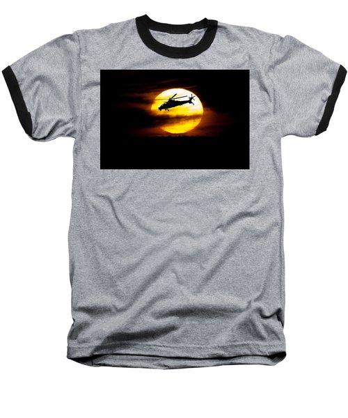 Rooivalk Sunset Baseball T-Shirt
