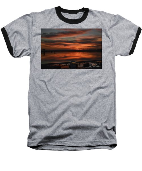 Room With A View Baseball T-Shirt by Kathy Baccari