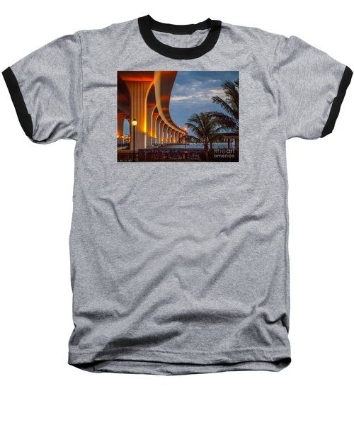 Roosevelt At First Light Baseball T-Shirt by Tom Claud