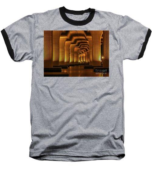 Roosevelt Night Shot Baseball T-Shirt by Tom Claud