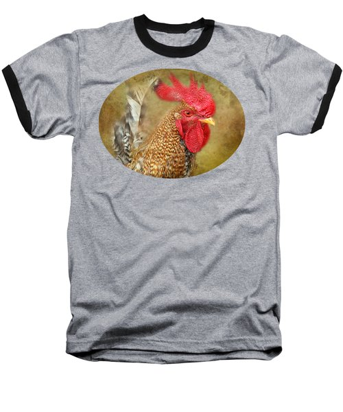 Rooster Profile Baseball T-Shirt