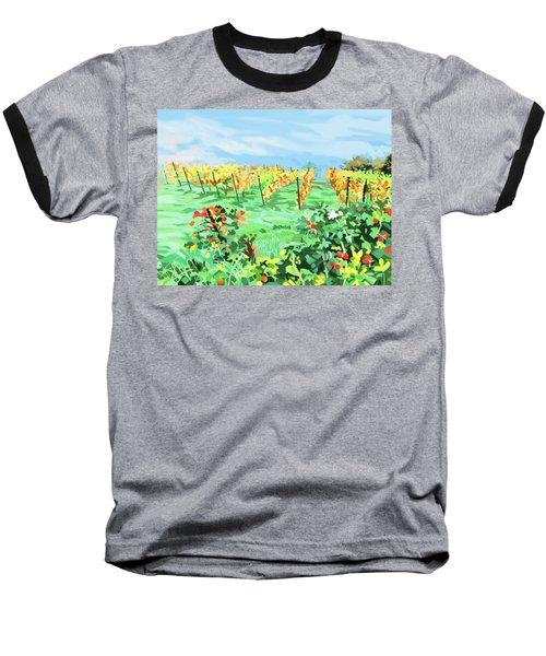 Roosthole Vineyard Baseball T-Shirt by Plum Ovelgonne