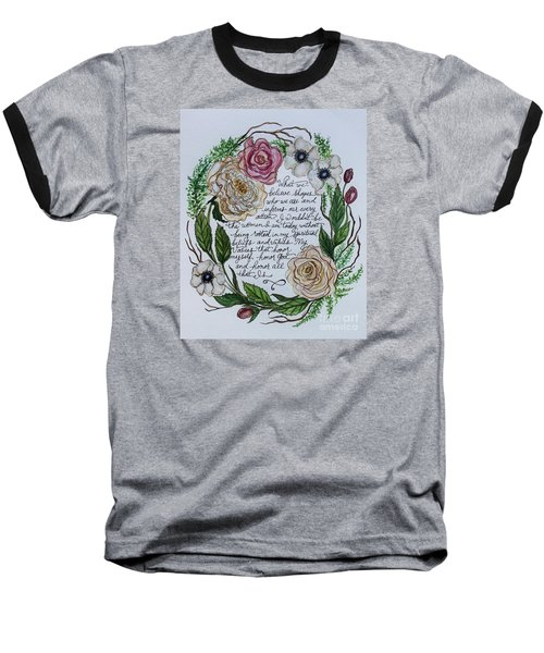 Rooted Baseball T-Shirt by Elizabeth Robinette Tyndall