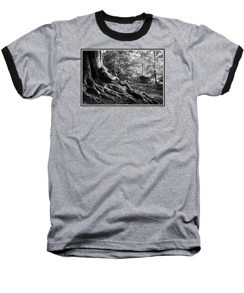 Baseball T-Shirt featuring the photograph Roots Of Contemplation by Ray Tapajna