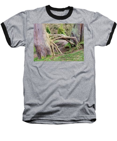 Roots Of Strength Baseball T-Shirt by Mary Mikawoz