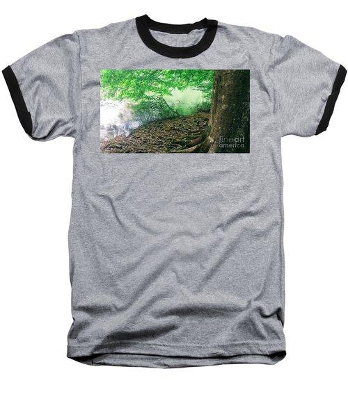 Roots On The River Baseball T-Shirt by Rachel Hannah