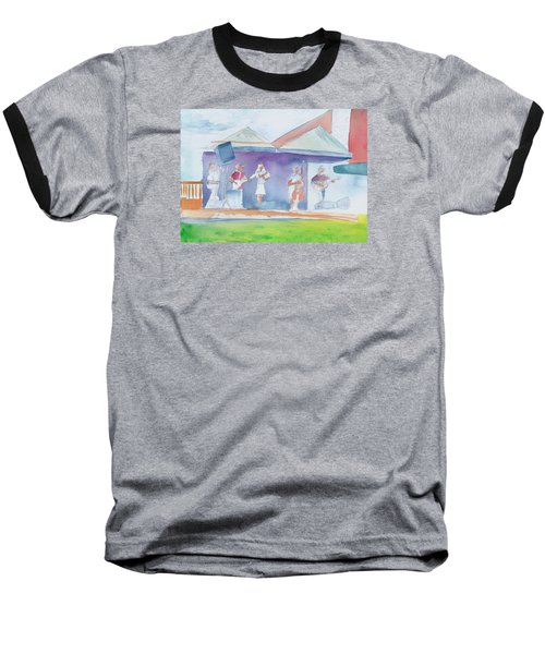 Roots Retreat Bluegrass Baseball T-Shirt