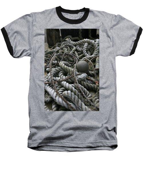 Ropes And Lines Baseball T-Shirt