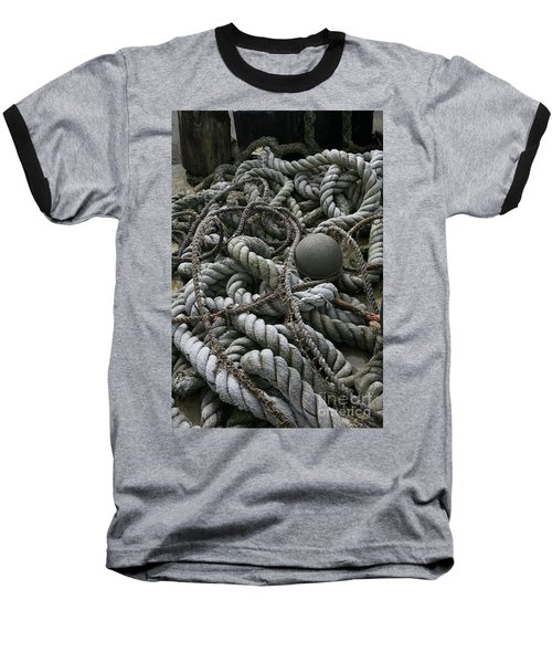Ropes And Lines Baseball T-Shirt