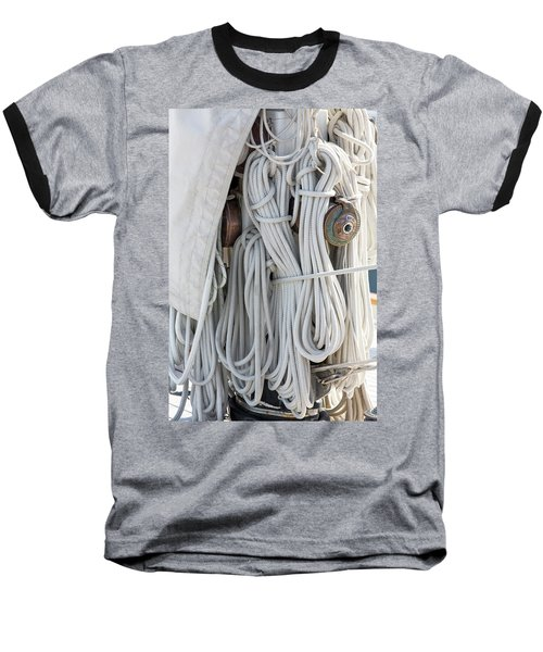 Ropes Of A Sailboat Baseball T-Shirt