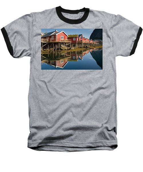 Rorbus With Reflections Baseball T-Shirt by Aivar Mikko