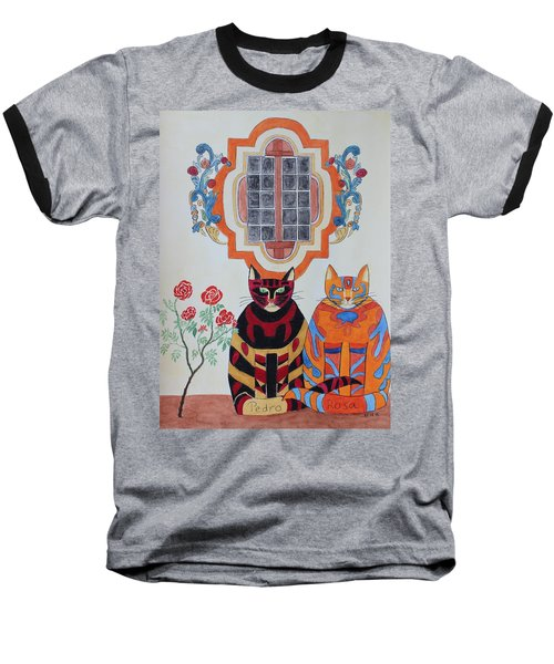 Rosa And Pedro Of The Rose Window Of Mission San Jose Baseball T-Shirt