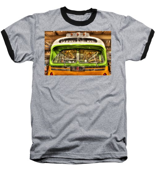 Rosa Parks Bus Dearborn Mi Baseball T-Shirt by Nicholas  Grunas