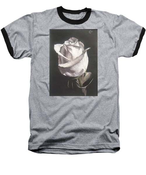 Baseball T-Shirt featuring the painting Rose 2 by Natalia Tejera