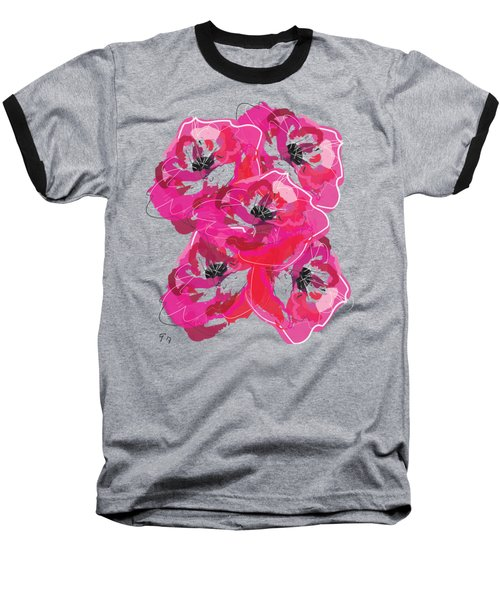 Rose Abundance Baseball T-Shirt