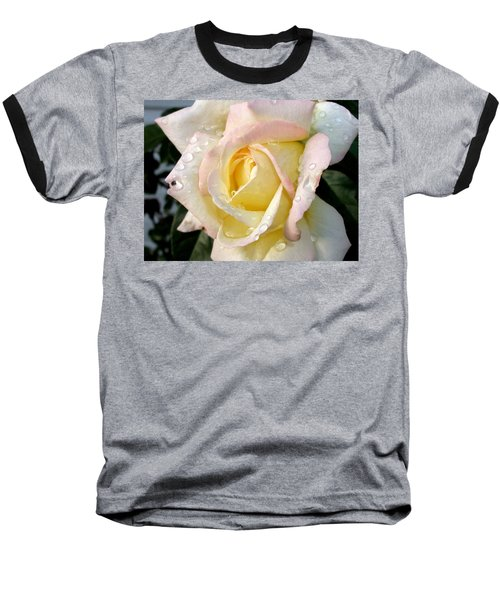 Rose And Raindrops Baseball T-Shirt