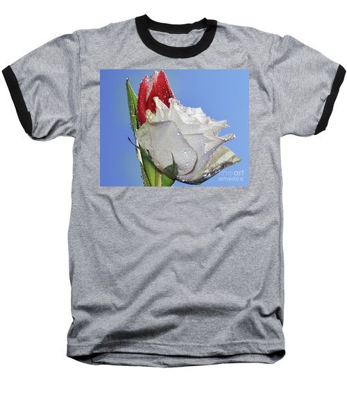 Baseball T-Shirt featuring the photograph Rose And Tulip by Elvira Ladocki