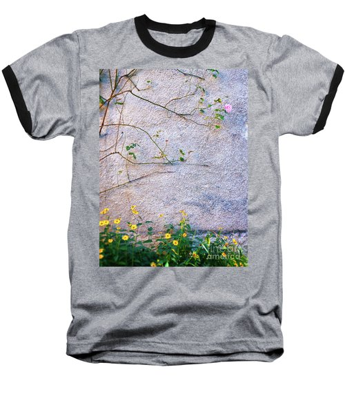 Baseball T-Shirt featuring the photograph Rose And Yellow Flowers by Silvia Ganora