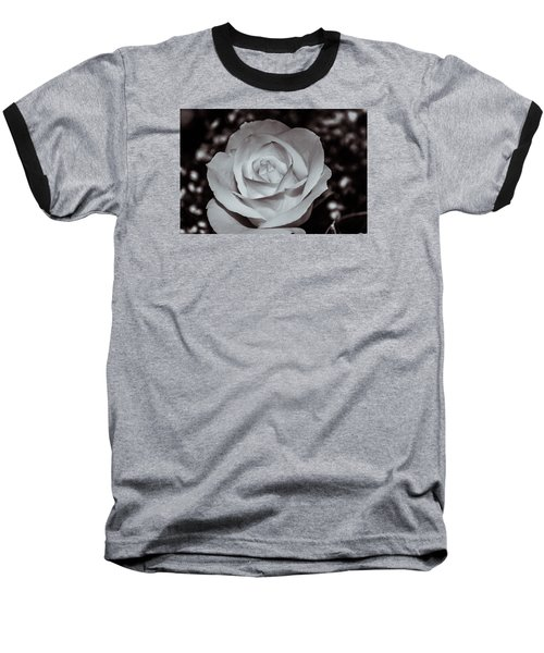 Baseball T-Shirt featuring the photograph Rose B/w - 9166 by G L Sarti