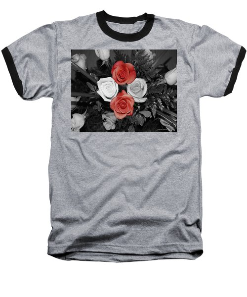 Rose Bouquet Baseball T-Shirt