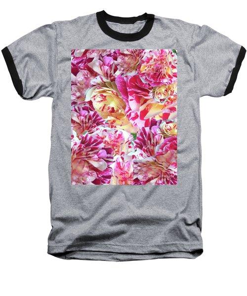 Rose Collage Baseball T-Shirt