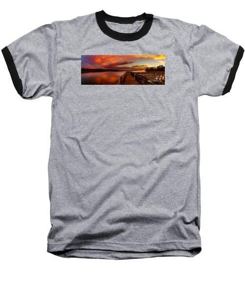 Rose Colored Classes Baseball T-Shirt by David Smith