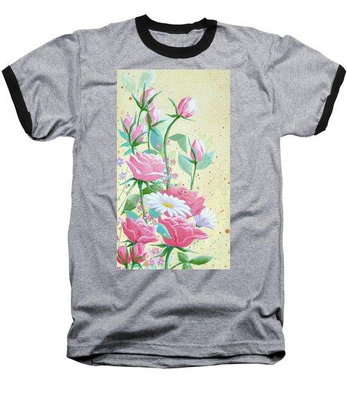 Rose Diptych 1 Baseball T-Shirt