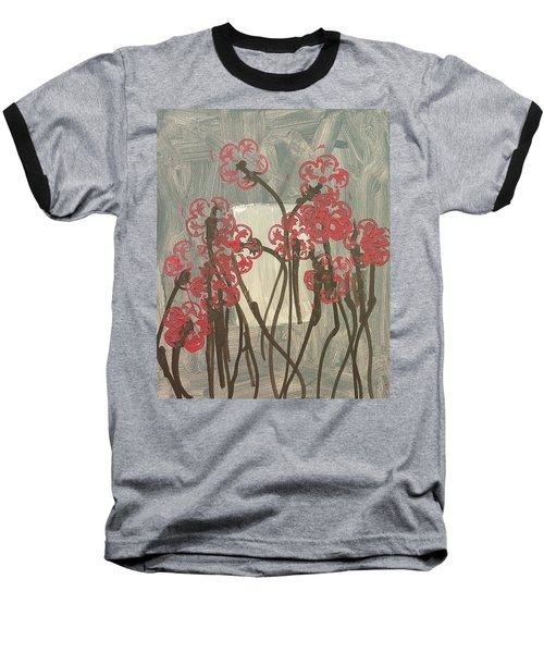 Rose Field Baseball T-Shirt by Artists With Autism Inc