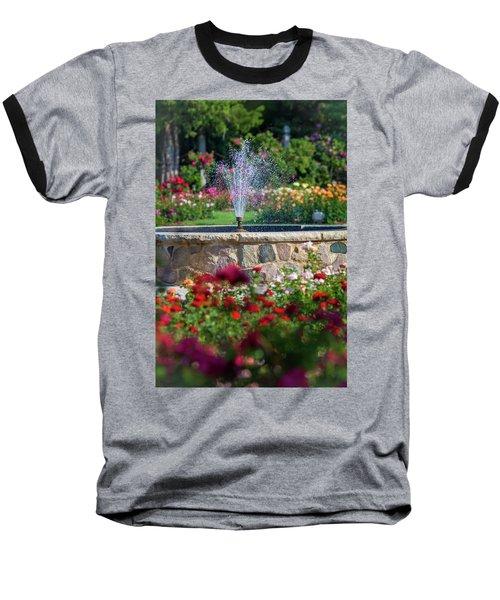 Rose Fountain Baseball T-Shirt