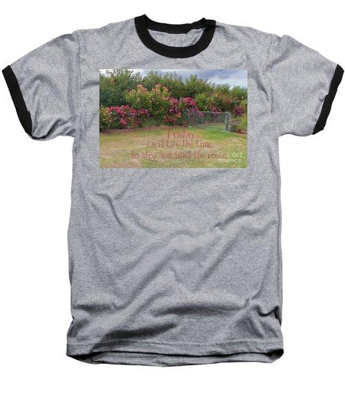 Rose Garden Baseball T-Shirt by Elaine Teague