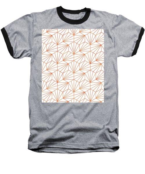 Rose Gold And White Baseball T-Shirt
