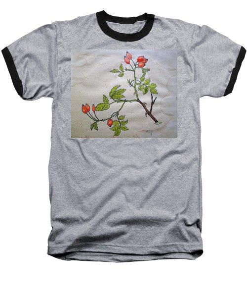 Rose Hip Baseball T-Shirt by Thomas M Pikolin